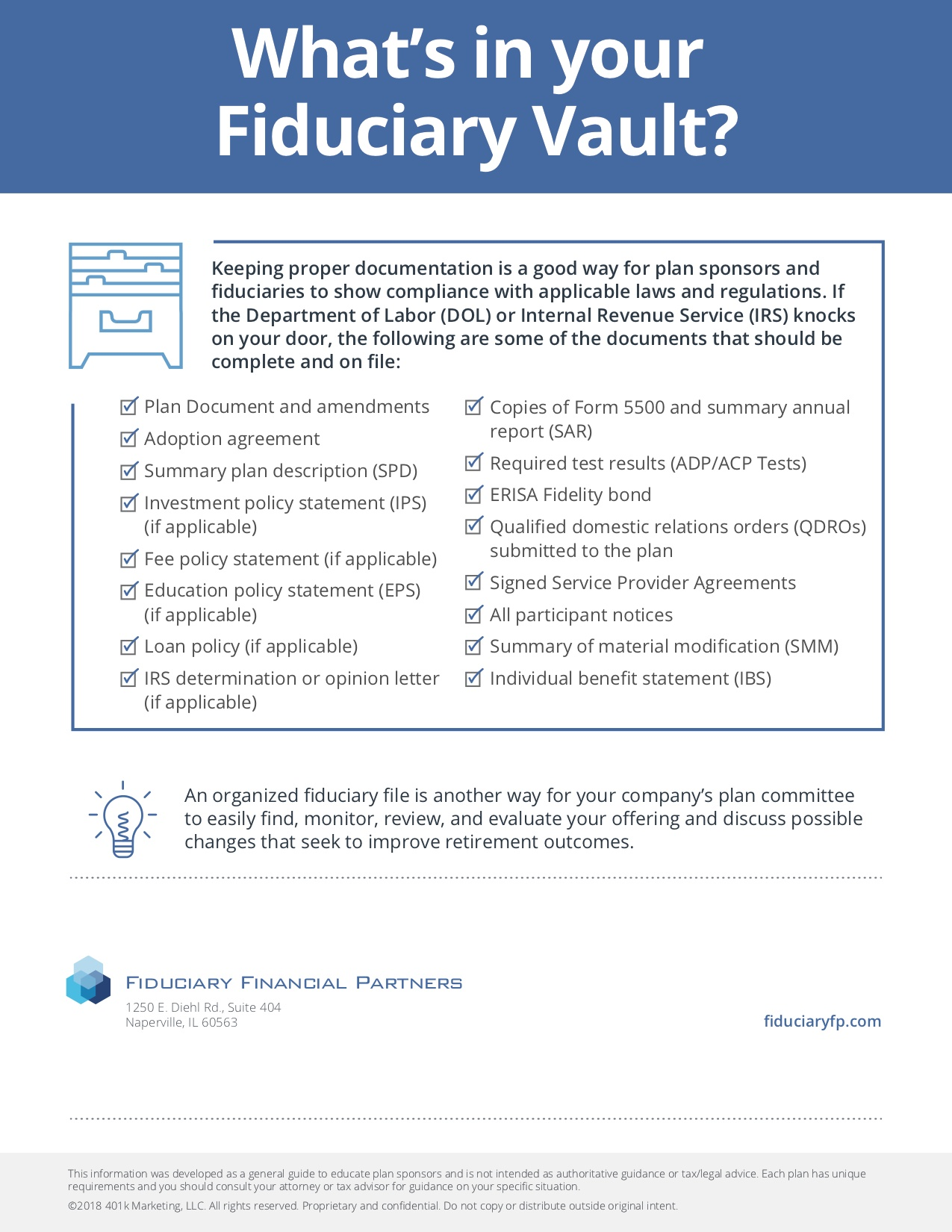 what's in your fiduciary vault